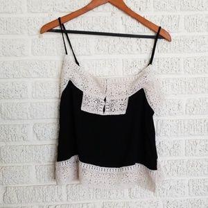 House of Harlow 1960 Black Crochet Top